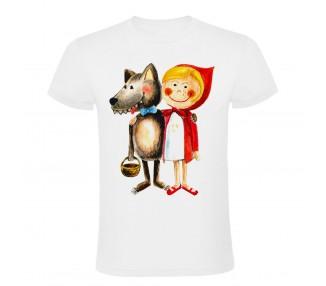 Tričko dětské - Karkulka s vlkem
