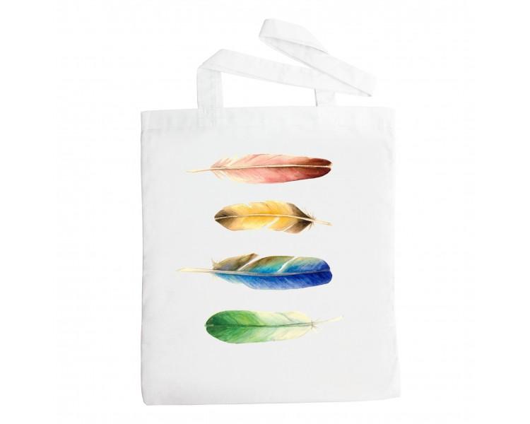 Látková taška - Pírka