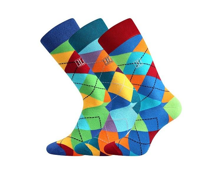 Ponožky Dikarus - káro