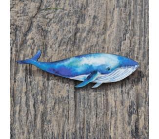 Brož modrá velryba