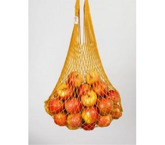Síťová taška bavlněná - hořčicově žlutá