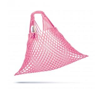 Síťová taška bavlněná - světle růžová