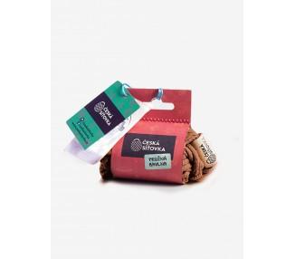 Síťová taška bavlněná - hnědá