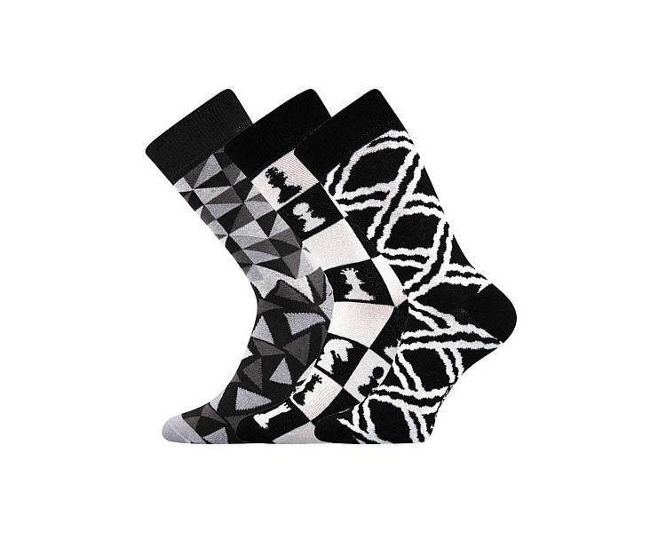 Ponožky Woodoo mix C - černobílé