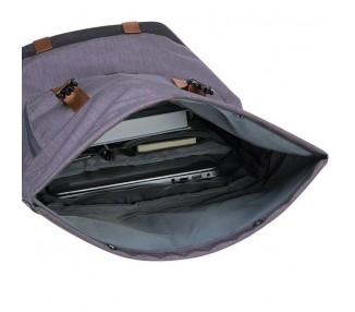 Rolovací batoh Double - šedý/bronz