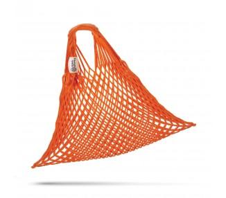 Síťová taška bavlněná - oranžová