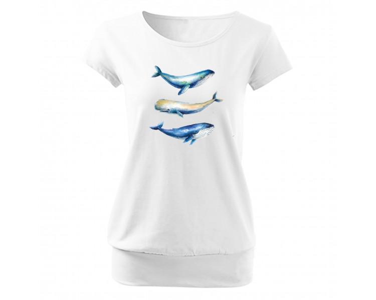 Tričko dámské Cela - velryby
