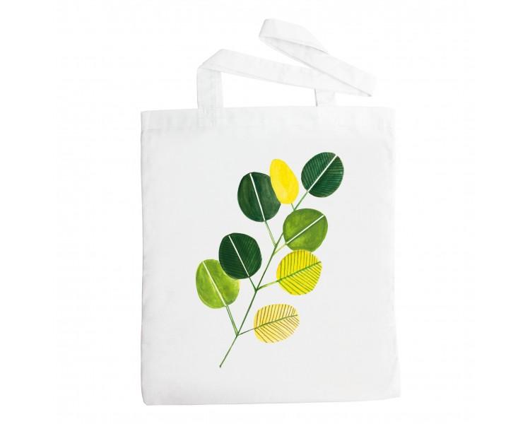 Látková taška - Listy zelené