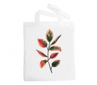 Látková taška - Listy růžové