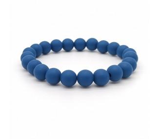 Náramek ze silikonových korálků - tmavě modrý