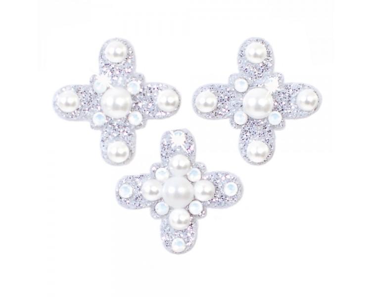 Amulet - stříbrná/perly