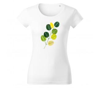 Tričko dámské Vipe  - Zelené listy