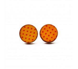 Náušnice kulaté s puntíky