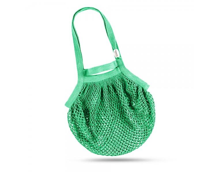 Síťová taška přes rameno - zelenkavá