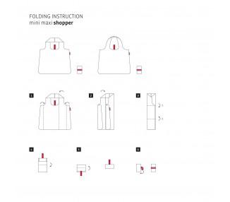 Skládací taška Mini Maxi - červené květiny