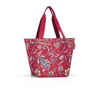 Nákupní taška Shopper - červené květiny