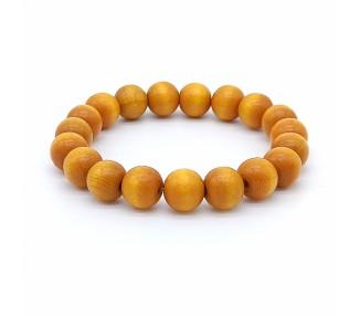 Korálkový náramek - zlatavě žlutý