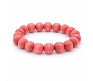 Korálkový náramek - lososově růžový