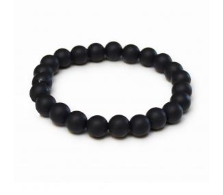 Náramek ze silikonových korálků - černý
