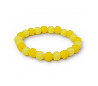 Náramek ze silikonových korálků - žlutý