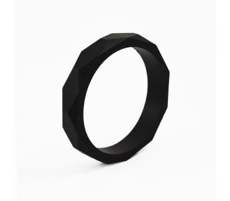Náramek diamond silikonový - černý