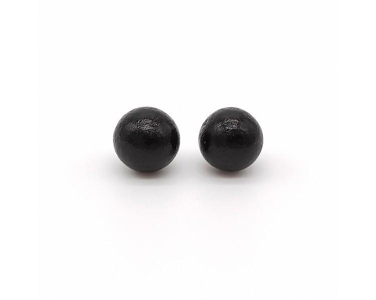 Dřevěné náušnice pecky – černé