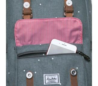 Batoh Travel menší - šedý s puntíky