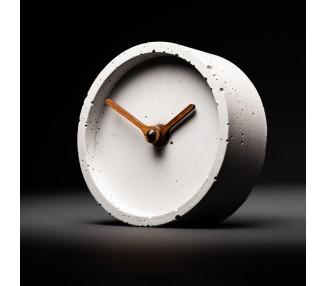 Stolní betonové hodiny šedé