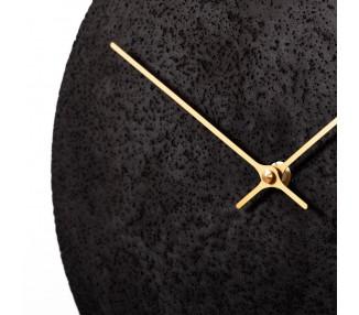 Betonové hodiny 70 cm antracit/zlaté