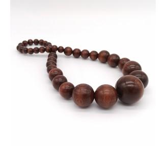 Dřevěné korále dlouhé – čokoládově hnědé